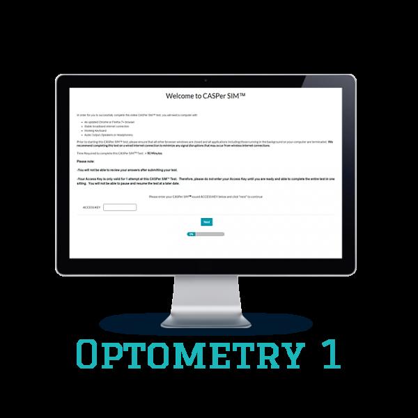 Full Length APE CASPer SIM 1 – Optometry w/out Scoring