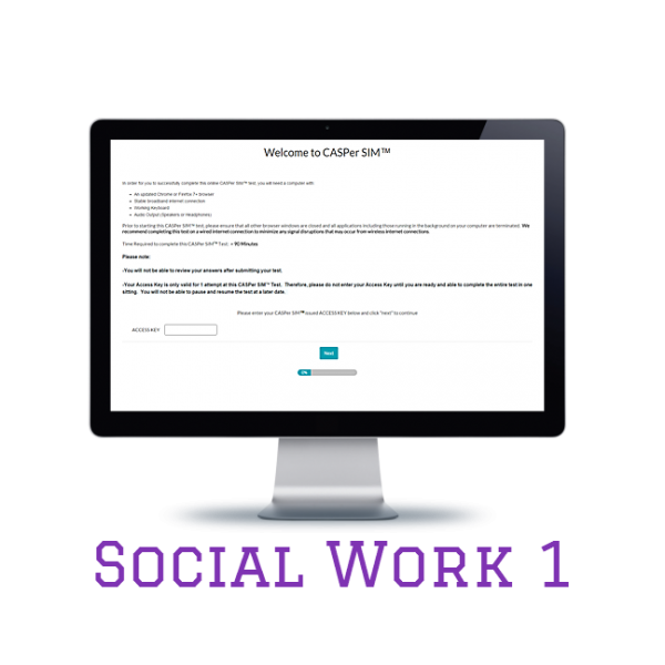 Full Length APE CASPer SIM 1 – Social Work w/out Scoring