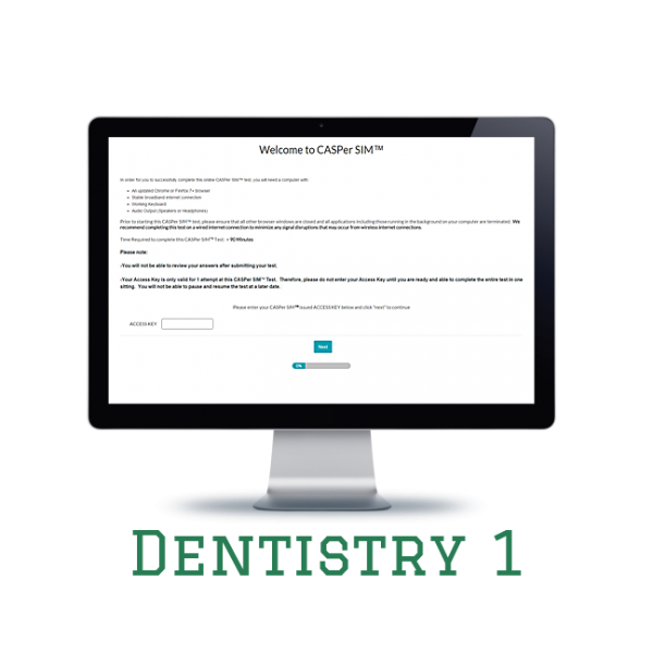 Full Length APE CASPer SIM 1 – Dentistry w/out Scoring