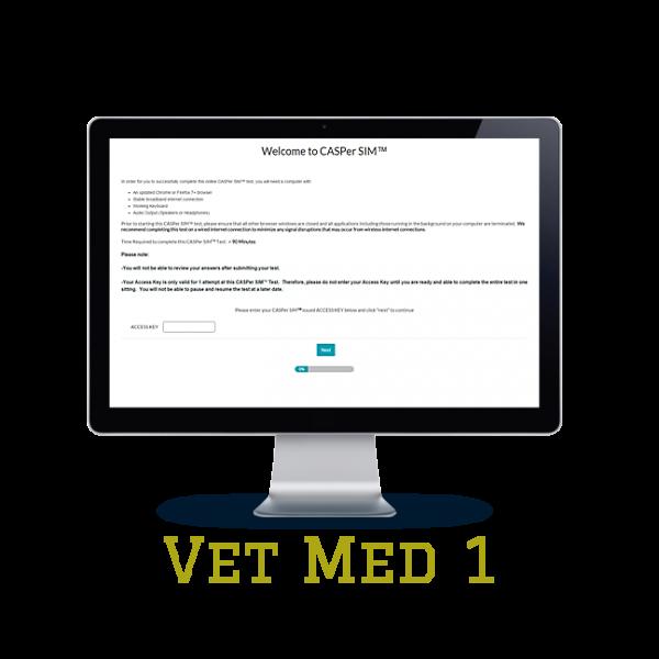 Full Length APE CASPer SIM 1 – Vet Med w/out Scoring